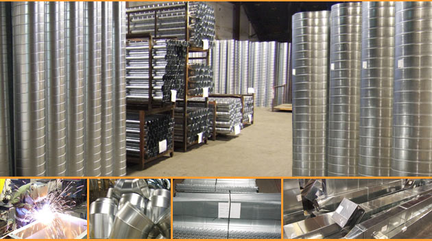 HVAC Ductwork and Spiral Ductwork  manufactured at Zen Industries