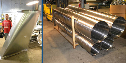 Experts in welded duct work aluminum ductwork