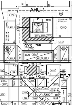 shop drawings duct drawings from zen m e p of cleveland. Black Bedroom Furniture Sets. Home Design Ideas